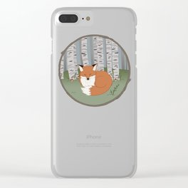 Little Fox in a Little Forest Clear iPhone Case