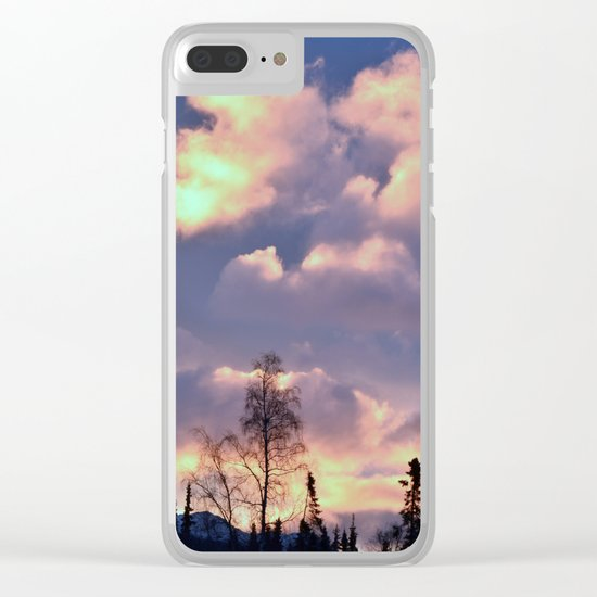 Rose Serenity Sky Clear iPhone Case