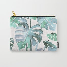 Delicate Monstera Blue And Green #society6 Carry-All Pouch