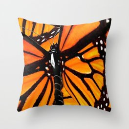 MONARCH BUTTERFLIES WING COLLAGE PATTERN 2 Throw Pillow