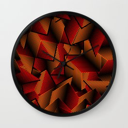 Geometric Right Angle Pattern Wall Clock
