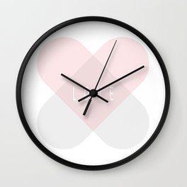 Healing Love Heart - Pink and Silver Wall Clock