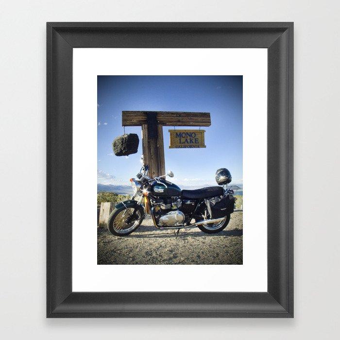 Bonneville at Mono Lake Framed Art Print