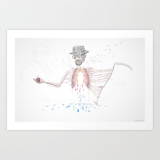 Cancer man  Art Print