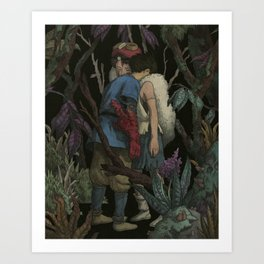 Life is suffering. It is hard. The world is cursed. But still, you find reasons to keep living. Art Print
