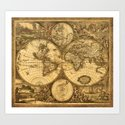 Antique World Map by aura2000