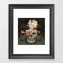 Red Fish and Smokey Skull Framed Art Print