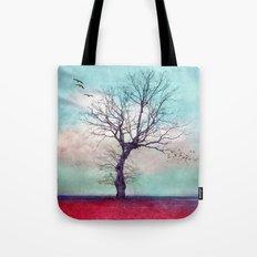 ATMOSPHERIC TREE | Longing for spring Tote Bag
