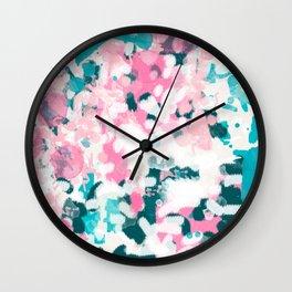 Everitt - abstract minimal painting home decor modern bright artistic decor canvas Wall Clock