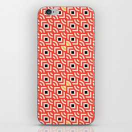 Round Pegs Square Pegs Red-Orange iPhone Skin