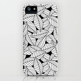 Leaves in Black iPhone Case