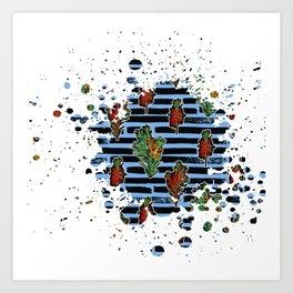 Australian Native Florals Graphic Splotch Art Print