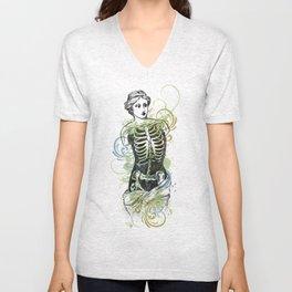 Skeleton Lady Venus Di Zombie Unisex V-Neck