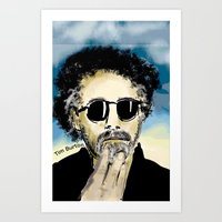 tim burton Art Prints featuring Tim Burton by Joanie L. Posner (jppozzy)