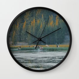 Wapiti Call Wall Clock