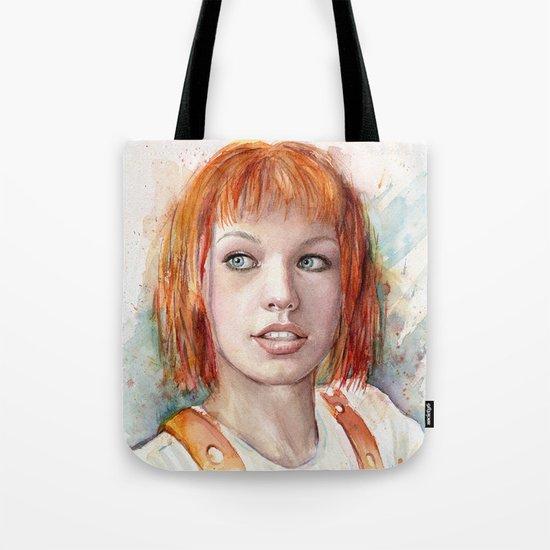 Leeloo Portrait Fifth Element Art Tote Bag