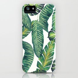 Jungle Leaves, Banana, Monstera II #society6 iPhone Case