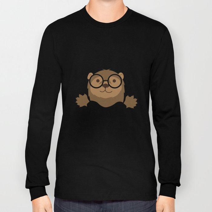 Hipster Otter Long Sleeve T-shirt