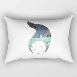 Dreaming about traveling the world Rectangular Pillow