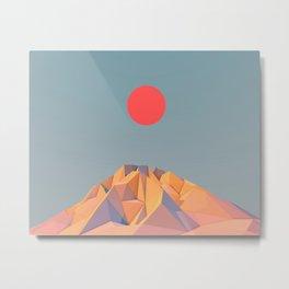Sun on Mountain Metal Print