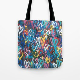 Love Wall Graffiti Street Art Tote Bag
