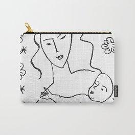 Matisse Vierge et Enfant sur fond étoilé 1951 Artwork, for Wall Art, Prints, Posters, Men, Women, Kids Carry-All Pouch