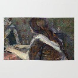 """Henri de Toulouse-Lautrec """"La Toilette (Madame Poupoule)"""" Rug"""