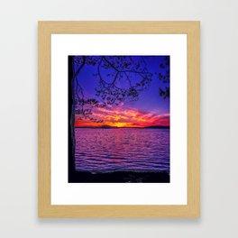 Just a autumn sunset shot Framed Art Print