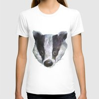 badger T-shirts featuring Badger! by Alison Jacobs