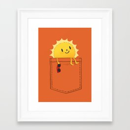 Pocketful of sunshine Framed Art Print