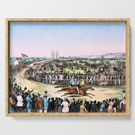 Nathaniel Currier - Peytona and Fashion in their great match for $20,000 - Digital Remastered Edition Serving Tray