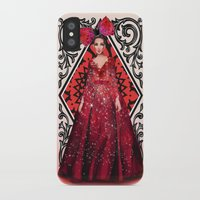 kardashian iPhone & iPod Cases featuring Queen of Hearts by Sara Eshak