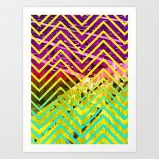 Chevron Scape Art Print
