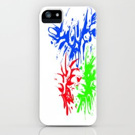 RGB Splash iPhone Case