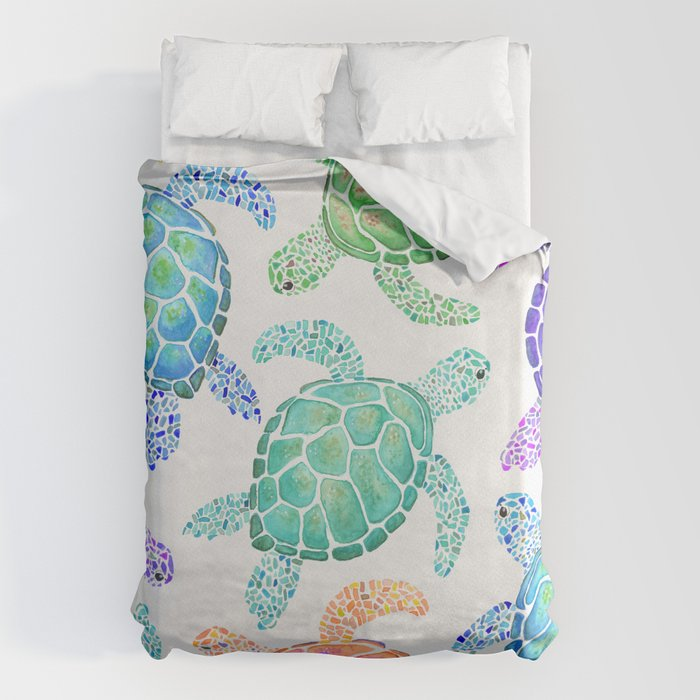 Sea Turtle - Colour Bettbezug