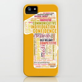 Life Path 1 (color background) iPhone Case