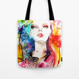 Colors Fashion Illustration Tote Bag