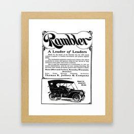 Rambler - A Leader of Leaders  Framed Art Print