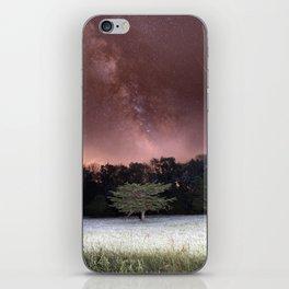 Milky Way Meteor Field iPhone Skin