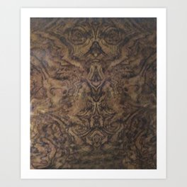 Faces in Wood Art Print