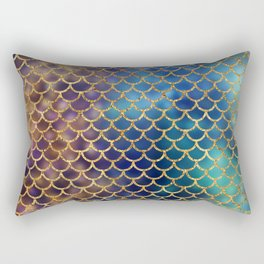 Bedazzled Mermaid Scales Rectangular Pillow
