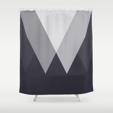 Sawtooth Inverted Blue Grey Shower Curtain