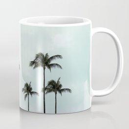 Palm Tree | Landscape Photography | Sunset Clouds | Blue Sky | Minimalism Coffee Mug