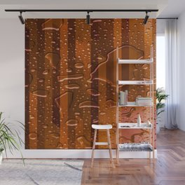 Wet Stripes,orange Wall Mural