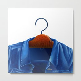 Jacket jeans that hung on the hanger Metal Print