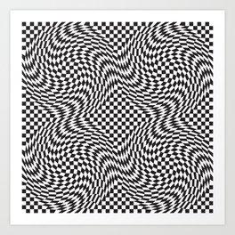 Checkered Warp Art Print