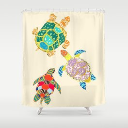 Turtle Family Shower Curtain
