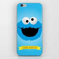cookie monster iPhone & iPod Skins featuring C FOR COOKIE MONSTER by Emils Blums
