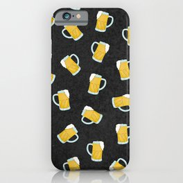 Artsy Modern Yellow Black Watercolor Beer Steins iPhone Case
