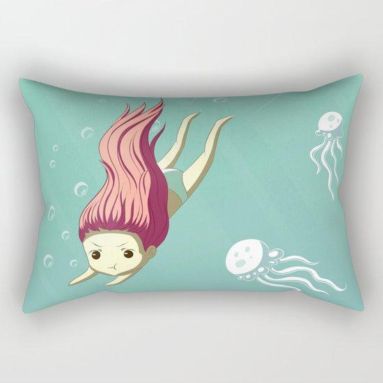Diver Rectangular Pillow